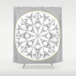 Paris in a Kaleidoscope Shower Curtain