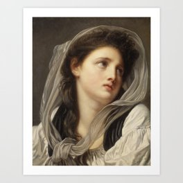 Head of a Young Woman Art Print