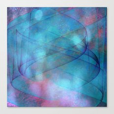 Blue tornado with fairy lights Canvas Print