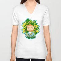 van gogh V-neck T-shirts featuring Gogh, Van Gogh by iso. isodesignworld