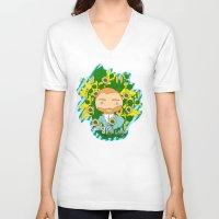 van gogh V-neck T-shirts featuring Gogh, Van Gogh by iso.