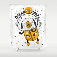 Dream in space Shower Curtain