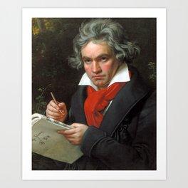 Ludwig van Beethoven Portrait - Joseph Karl Stieler Art Print
