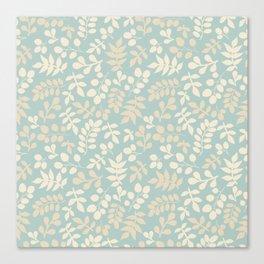 Seamless pattern on leaves theme, Autumn seamless pattern  Canvas Print