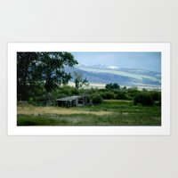 montana Art Prints featuring Montana by Photos By Cat