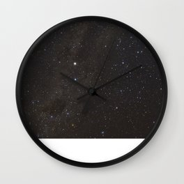 The Milky way and Stars Wall Clock
