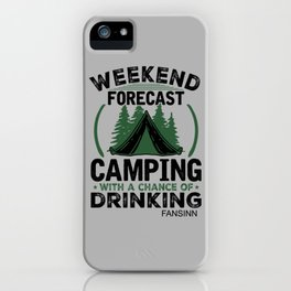Camping tents recreation gift iPhone Case