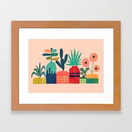 Plant mania Framed Art Print