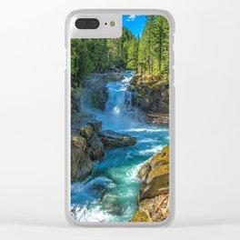Silver Falls Mount Rainier National Park Washington United States Ultra HD Clear iPhone Case