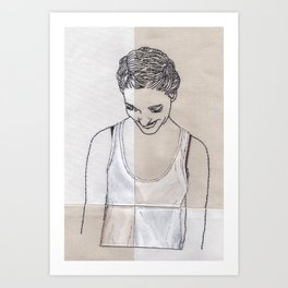 Patchwork Portrait: Katie West Art Print