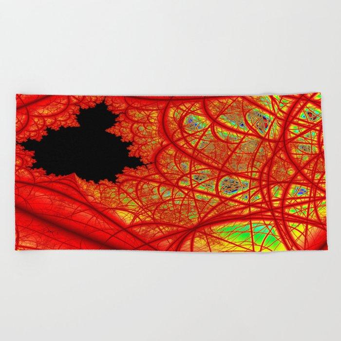 Rainbow Fractal 2 Beach Towel