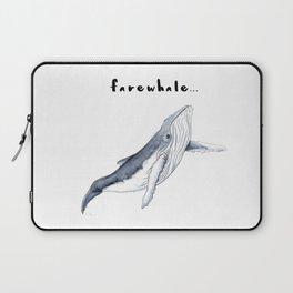 Farewhale Humour Whale Farewell Goobye design Laptop Sleeve