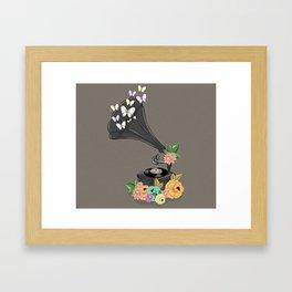 Gramaphone Bloom Framed Art Print
