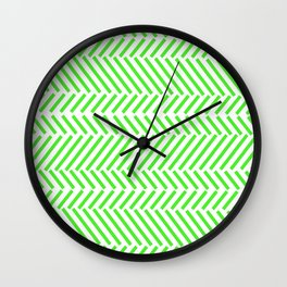 Trigonometric Green Wall Clock