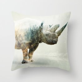 RHINO SPINE Throw Pillow