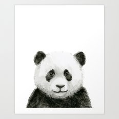 Baby Panda Whimsical Animal Watercolor Cute Baby Animals Art Print