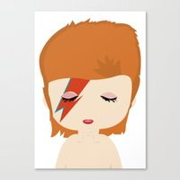 david bowie Canvas Prints featuring David Bowie by Creo tu mundo