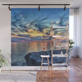 Wine & Sunsets Wall Mural
