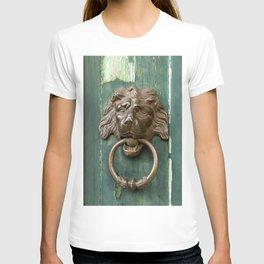 Lion heads of precious metal T-shirt