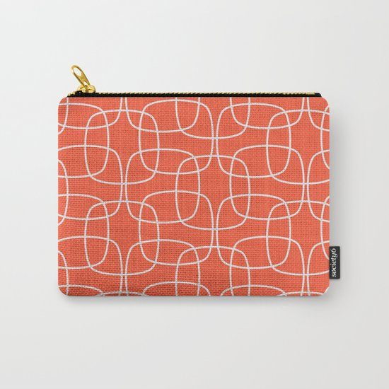 Square Pattern Flame Carry-All Pouch