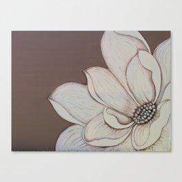 Mocha and cream flower Canvas Print