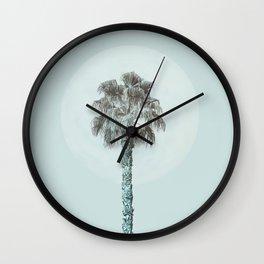 Tropical Moon Palm Tree Wall Clock