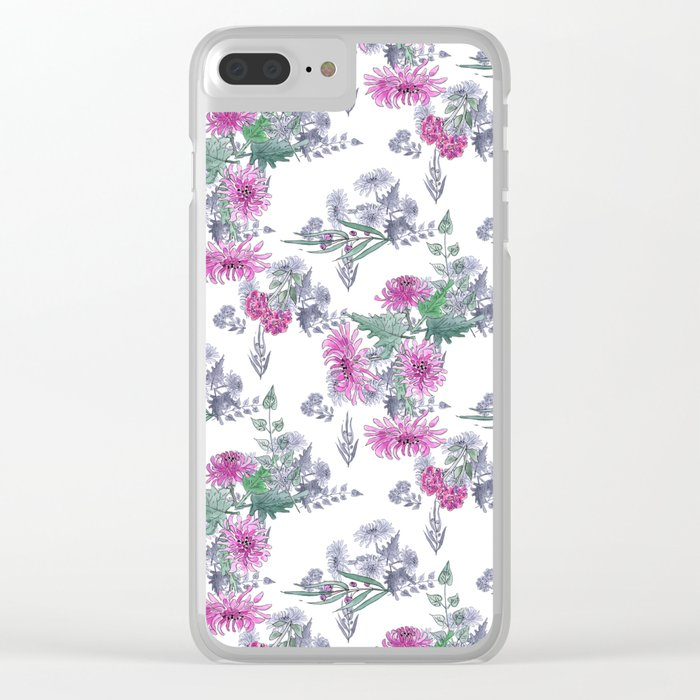 Watercolor floral pattern . 11 Clear iPhone Case