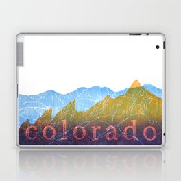 Colorado Mountain Ranges_Boulder Flat Irons + Continental Divide Laptop & iPad Skin