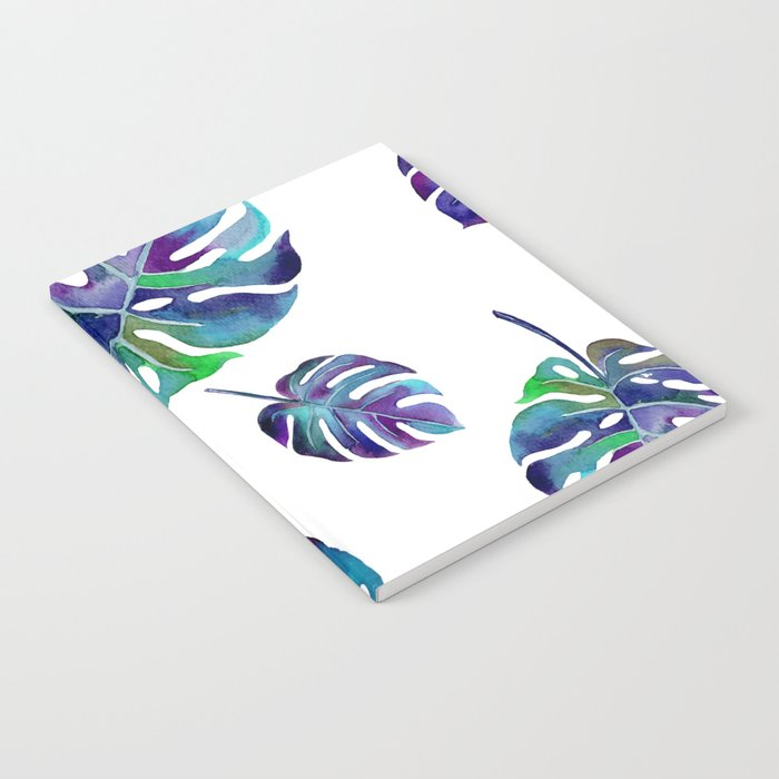 watercolor leaves Notebook