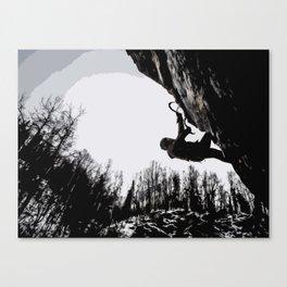Climbers Silhouette #2 Canvas Print