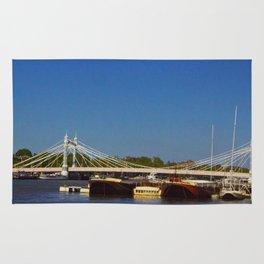 Albert Bridge on the Thames in London Rug