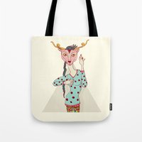 boob Tote Bags featuring i touch my boob by Yna Crez