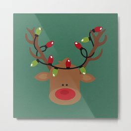 Rudolph the Reindeer Metal Print