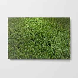 Abstract background artificial green grass Metal Print