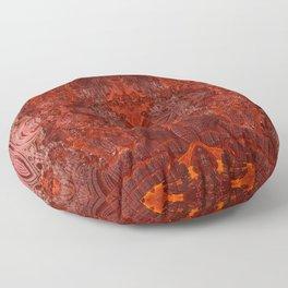 Vintage Mahogany Floor Pillow
