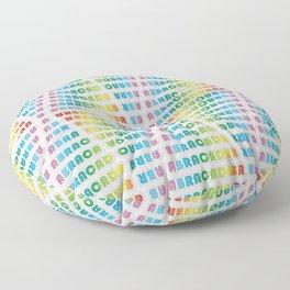 ABRACADABRA Retro Rainbow Floor Pillow