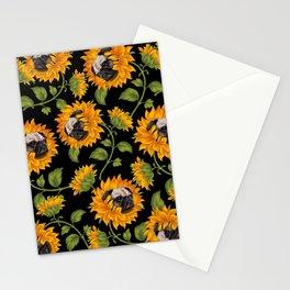 Pug Sunflowers Stationery Cards