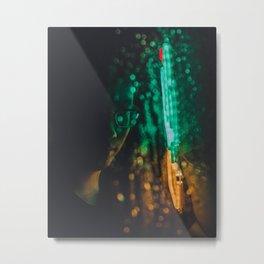 Neon Dew Metal Print