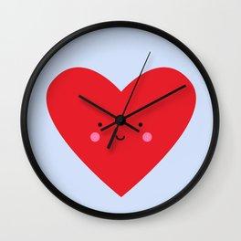 Happy Little Heart Wall Clock