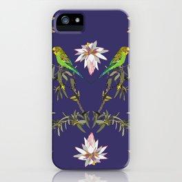 Budgerigar-1-Johnsonia-Purple iPhone Case