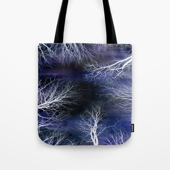 Abstract Midnight Trees Tote Bag
