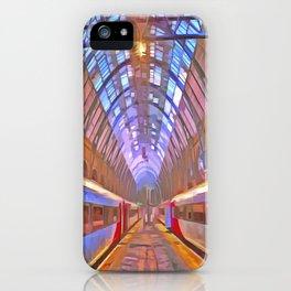 Kings Cross Station Platform Pop Art iPhone Case