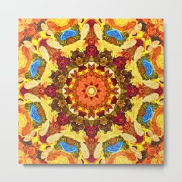 Mandala of the sun Metal Print