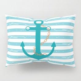 AFE Nautical Teal Ship Anchor Pillow Sham