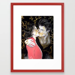 Pheromone kiss Framed Art Print