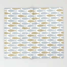 shoal of herring Throw Blanket