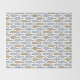 shoal of herring Throw Blanket