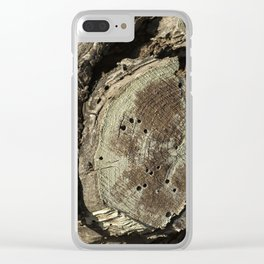 The Skin and Scar of a Cottonwood Tree Clear iPhone Case