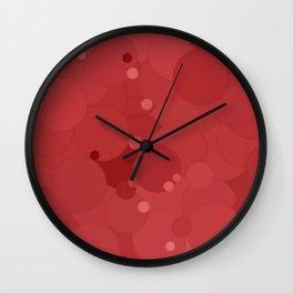 Cranberry Bubble Dot Color Accent Wall Clock