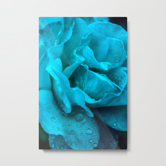 Blue Drops Metal Print